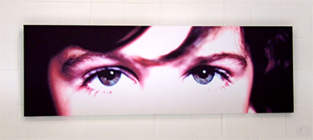 Picture of eyes on canvas